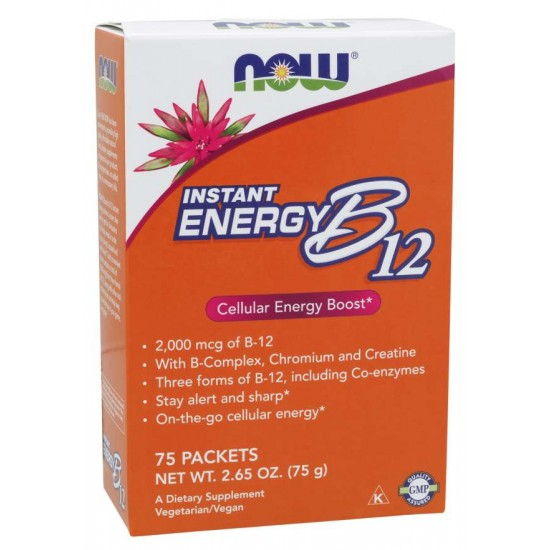 Instant Energy B-12 (2,000 mcg of B-12 per packet) - 75 Packets