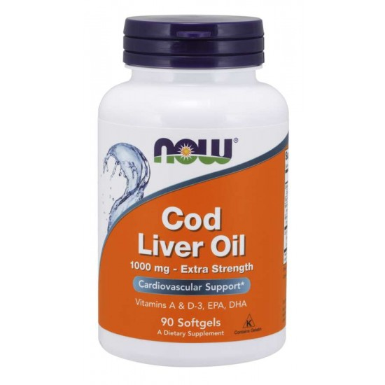Cod Liver Oil, Extra Strength 1,000 mg 90 Softgels