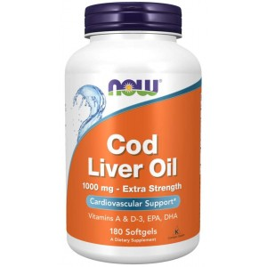 Cod Liver Oil, Extra Strength 1,000 mg 180 Softgels