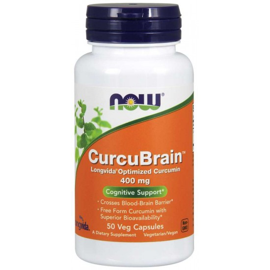 CurcuBrain™ 400 mg 50 Veg Capsules