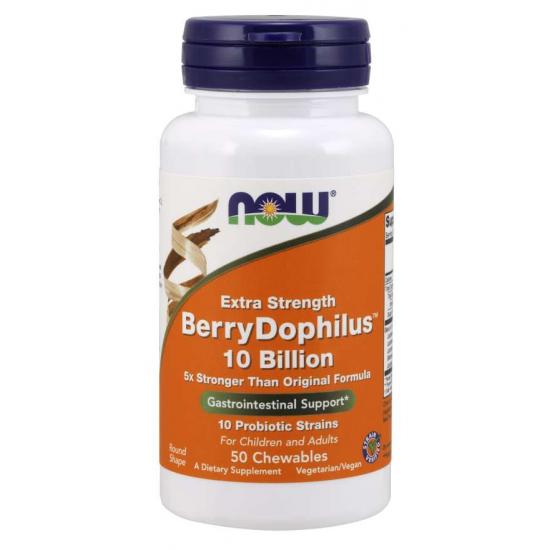 BerryDophilus™ 10 Billion Extra Strength - 50 Chewables/ Szavatossági idő: 2022-05-31