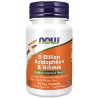 8 Billion Acidophilus and Bifidus - 60 Veg Capsules