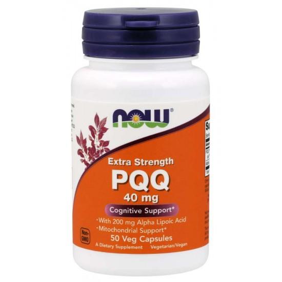 PQQ, Extra Strength 40 mg 50 Veg Capsules
