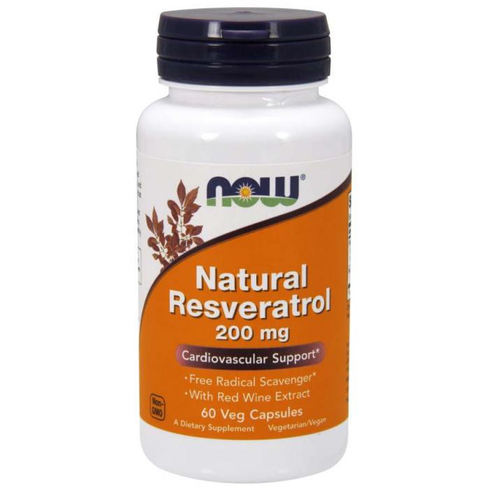 Natural Resveratrol 200 mg  60 Veg Capsules