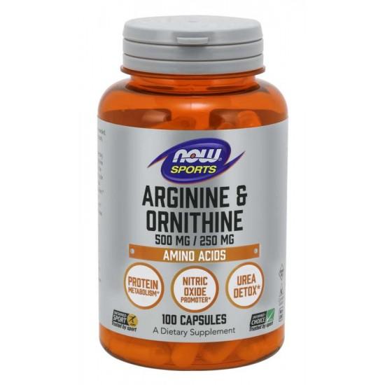 Arginine & Ornithine 500/250 mg - 100 Capsules
