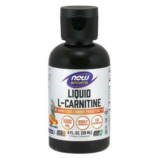 L-Carnitine Liquid, Tropical Punch 1000 mg - 59 ml.