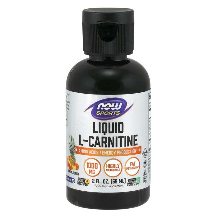 L-Carnitine Liquid, Tropical Punch 1000 mg - 59 ml.