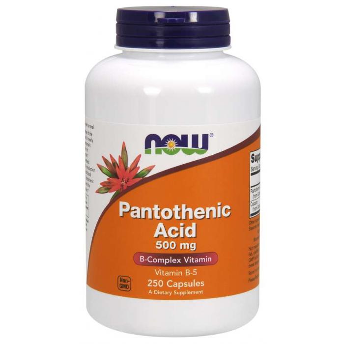 Pantothenic Acid 500 mg 250 Capsules