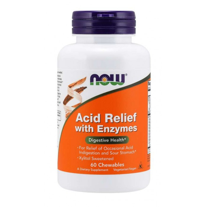 Acid Relief with Enzymes 60 Chewables