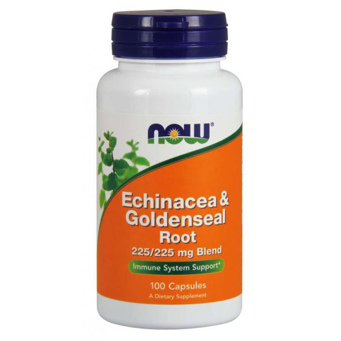 Echinacea & Goldenseal Root  100 Capsules/  Kasvirág és Aranygyökér