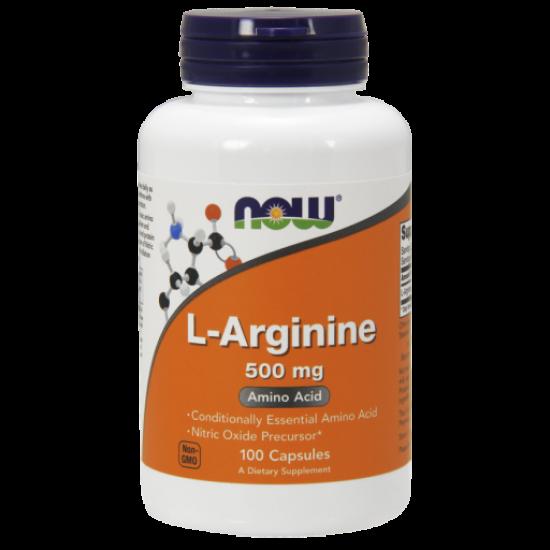 L-Arginine 500 mg - 100 Capsules