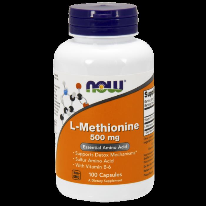 L-Methionine 500 mg - 100 Capsules