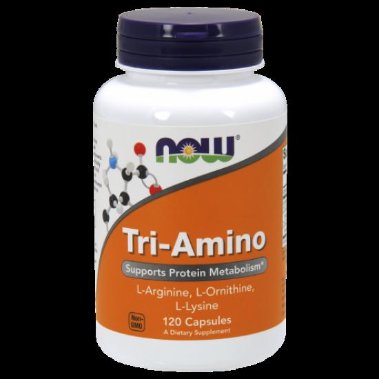 Tri-Amino (L-Arginin, L-Ornitin, L-Lizin)- 120 Capsules