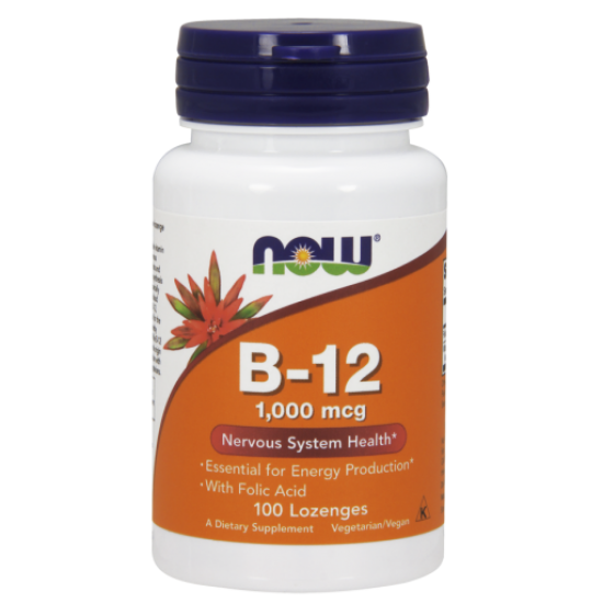 B-12 (1000 mcg) with Folic Acid 100 Chewable Lozenges