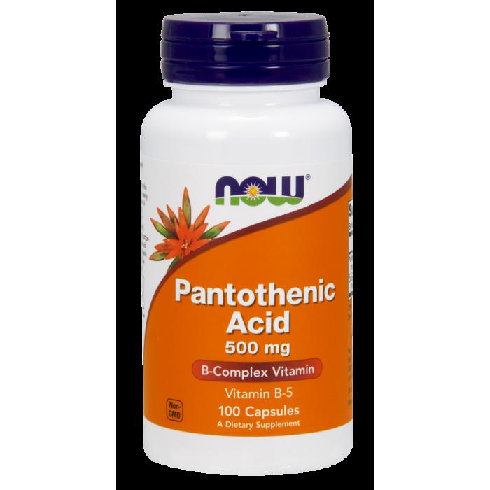 Pantothenic Acid 500 mg 100 Capsules
