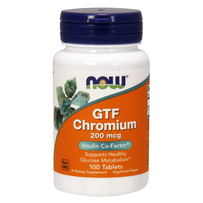 GTF Chromium 200 mcg 100 Tablets