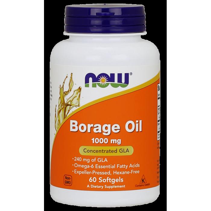 Borage Oil 1000 mg 60 Softgels / Szavatossági idő: 2021 - 10 - 31.