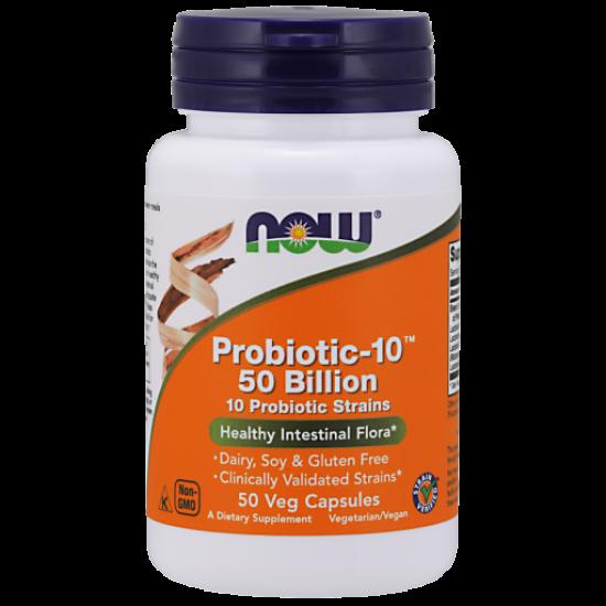 Probiotic-10™ 50 Billion - 50 Veg Capsules/ Szavatossági idő: 2022-11-30