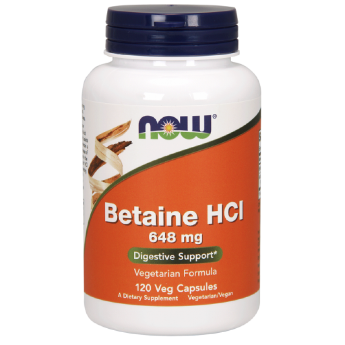 Betaine HCl 648 mg - 120 Veg Capsules