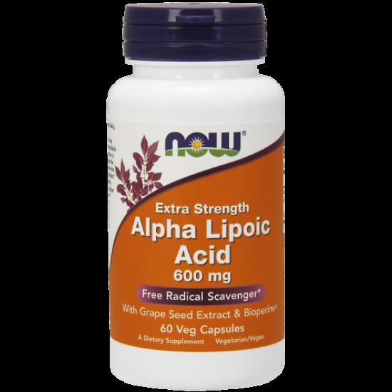Alpha Lipoic Acid 600mg 60Veg Caps.