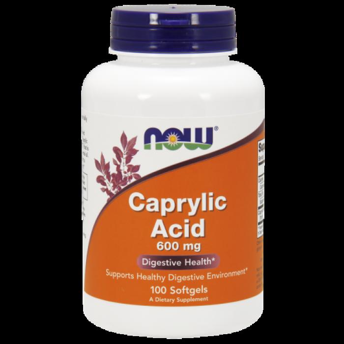 Caprylic Acid 600 mg - 100 Softgels / Szavatossági idő: 2022 - 01 - 31.