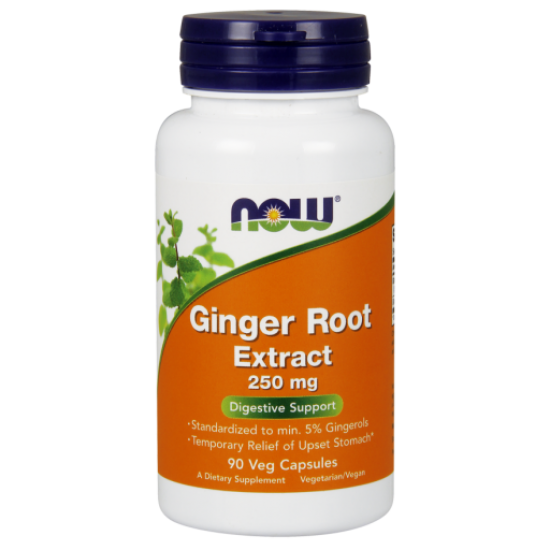 Ginger Root Extract 250 mg - 90 Veg Capsules