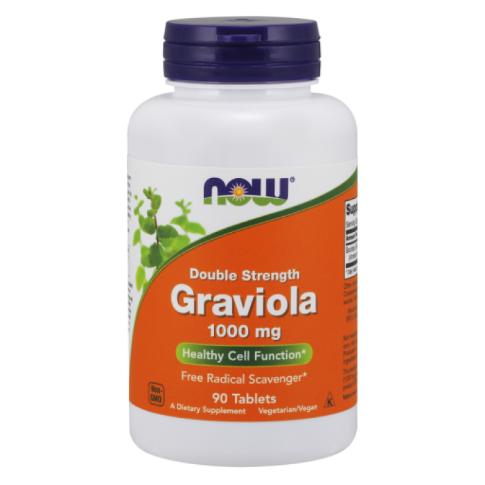 Graviola 1000 mg, Double Strength - 90 Tablets