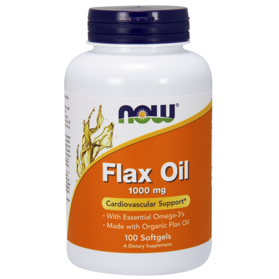 Flax Oil 1000 mg 100 Softgels Organic