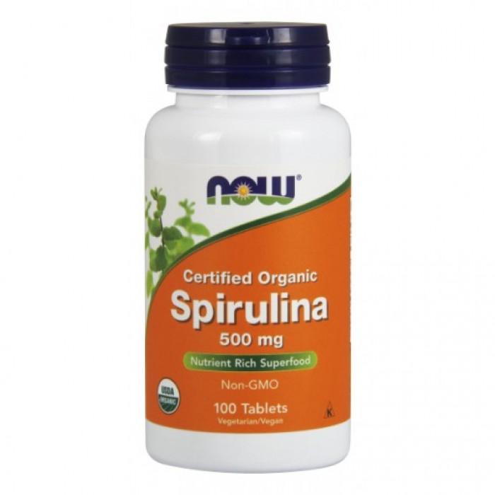 Spirulina 500 mg - 100 Tablets Organic Spirulina (Non-GMO).