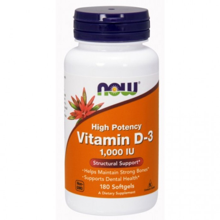 D-3 1,000 IU - 180 Softgels