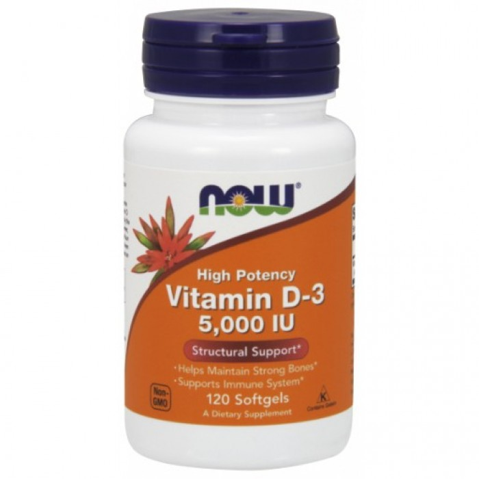 D-3 5,000 IU - 120 Softgels