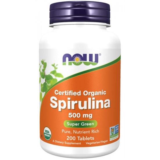 Spirulina 500 mg - 200 Tablets Organic Spirulina (Non-GMO).