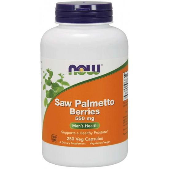 Saw Palmetto Berries 550 mg 250 Veg Capsules