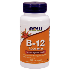 B-12 (1000 mcg) with Folic Acid 250 Chewable Lozenges