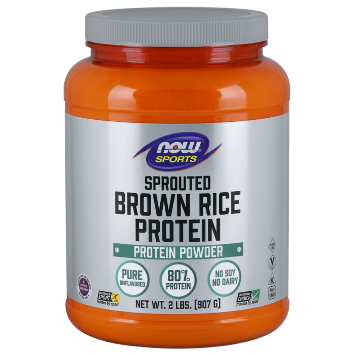 Sprouted Brown Rice Protein Powder - 2 lbs.