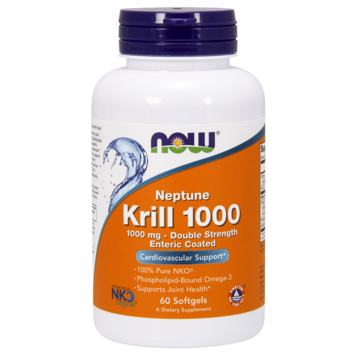 Neptune Krill 1,000 mg, Double Strength - 60 Softgels